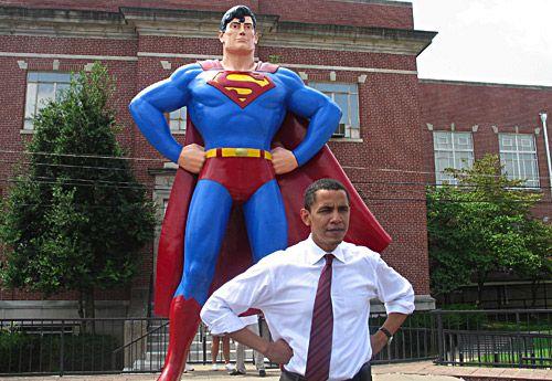 Барак Обама и Супермен